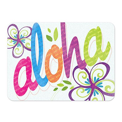 Die-Cut Tin Picture Magnet, Bold Aloha