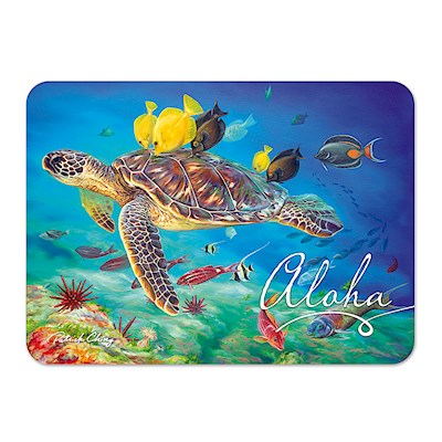 Die-Cut Tin Picture Magnet, Honu Kisses