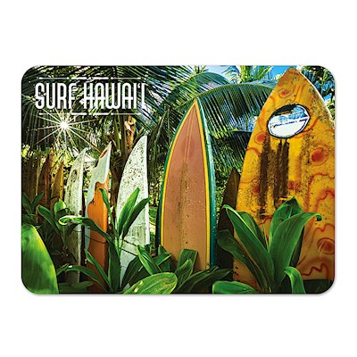 Die-Cut Tin Picture Magnet, Surfboard Fence
