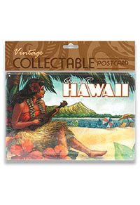Vintage Collectable Metal 5x7 Postcard, Vintage Hawaii