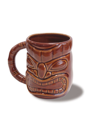 12 oz. Tiki Mug Dark Brown