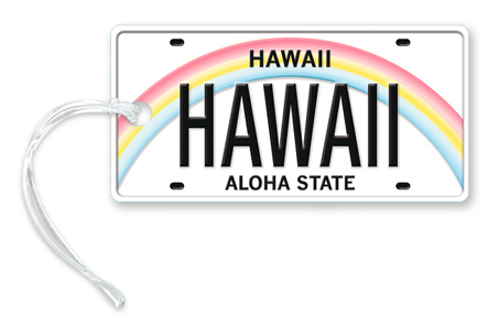 Die-Cut ID Tag, Hawaii License Plate