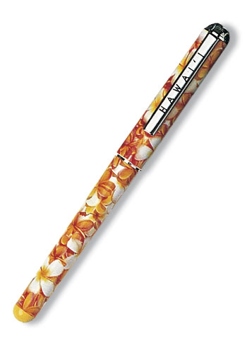 Single Rollerball Pen Plumerias