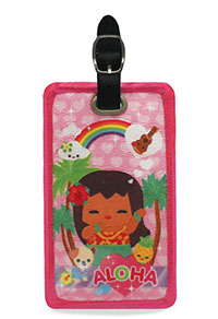 Deluxe Embroidered Luggage tag, IY Aloha