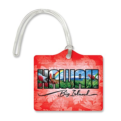 Die Cut ID Tag - Hawaii Big Island