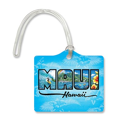 Die Cut ID Tag - Maui Hawaii