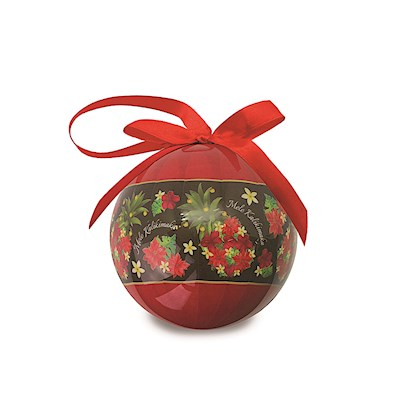Pineapple Floral Glossy Paper Ball Ornament