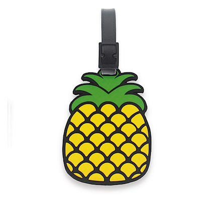 PVC ID/Luggage Tag, Pineapple - Black