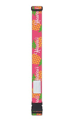 Luggage Strap, Pineapple Hawai'i - Pink