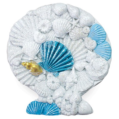 Coastal Shell with Shells Hand-Painted Resin Magnet