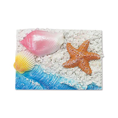Coastal Rectangle-Starfish Hand-Painted Resin Magnet