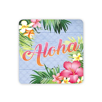 Coastal Wood Aloha Palm Magnet