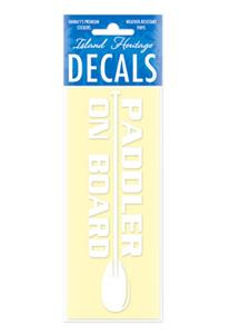 Decal Small Banner, Paddler on Board White