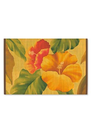 Bamboo Placemat Vintage Hibiscus