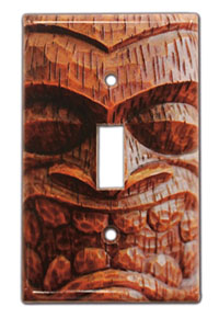 Light Switch Cover, Tiki