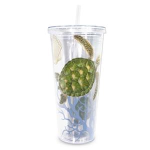24 oz. Travel Tumbler with Straw, Honu Voyage