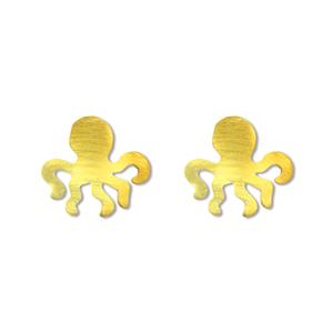 Charm Earrings 1-pr, Octopus - Gold