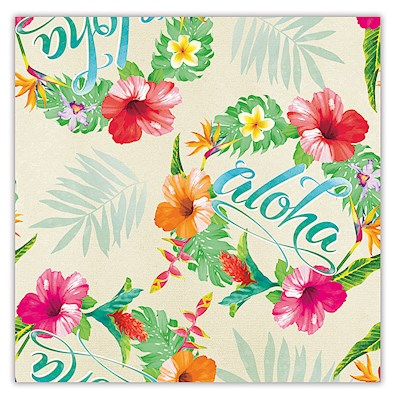 Rolled Gift Wrap - Aloha Floral