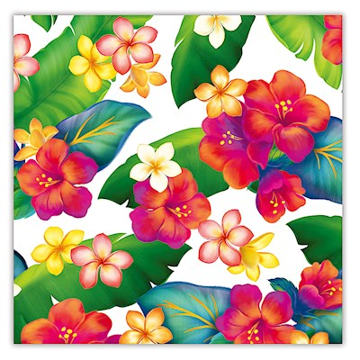 Rolled Gift Wrap - Island Blossoms