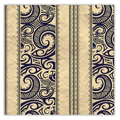 Rolled Gift Wrap - Tribal Tan
