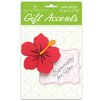 3D Gift Accent, Hibiscus