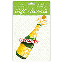 3D Gift Accent, Champagne Bottle