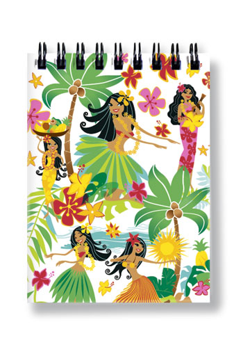 Small Notebook Island Hula Honeys