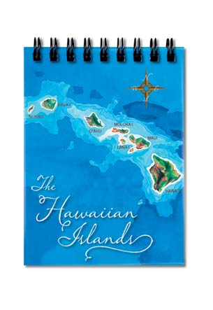 Small Notebook Hawai'i Map - Blue