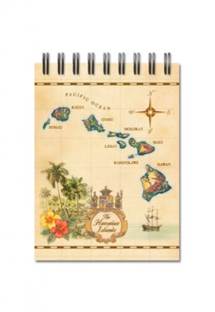 Small Notebook Islands of Hawaii - Tan