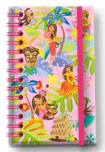 Small Notebook with Elastic Band Island Hula Honeys Too