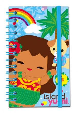 Small Notebook with Elastic Band Island Yumi-Aloha
