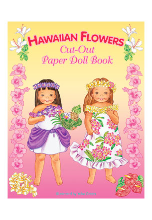 Hawaiian Flowers Paper Dolls