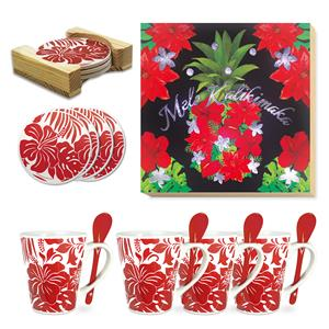 Pineapple Floral Holiday Décor Gift Set
