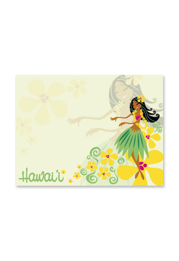 Aloha Stick n Notes Lovely Hula Hands