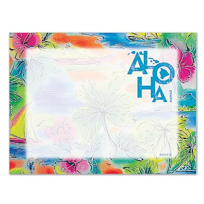 Rect. Aloha Stick'n Notes 50-sht, Tropical Aloha