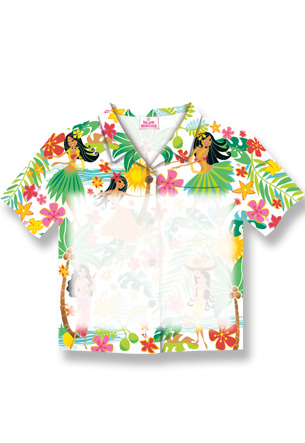 Aloha Shirt Stick n Notes Island Hula Honeys