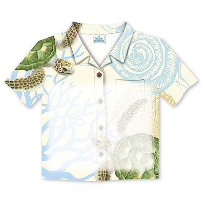 Aloha Shirt Stick n Notes Honu Voyage
