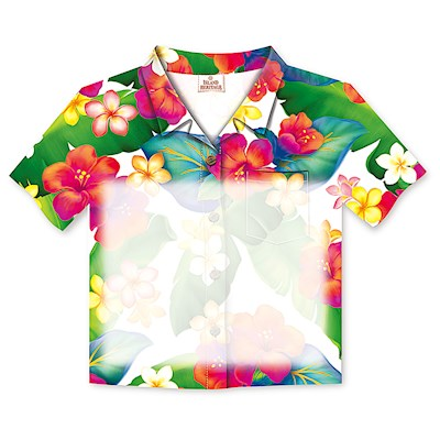 Aloha Shirt Stick n Notes Island Blossoms