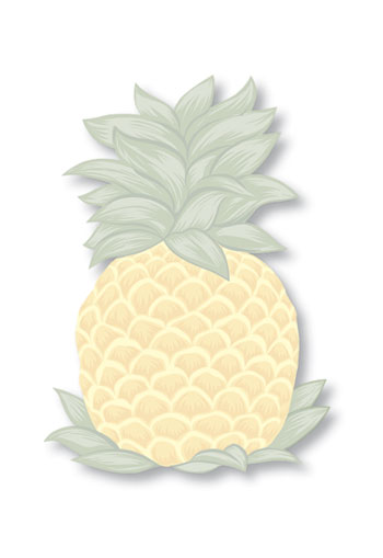 Shaped Aloha Stick n Notes Pineapple