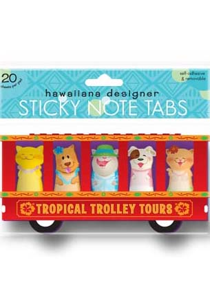 Sticky Memo Tabs Tropical Trolley Tours