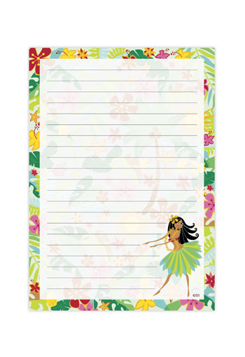 Notepad Hula Maiden
