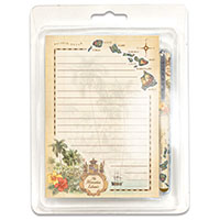 Stationery Set Islands of Hawaii Tan