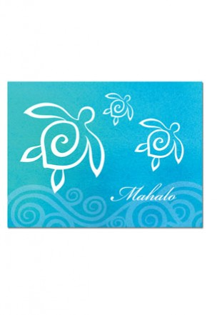 Packaged Mahalo Cards Honu Swirl