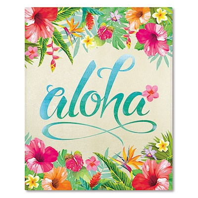 Hardcover 64-View Photo Album - Aloha Floral