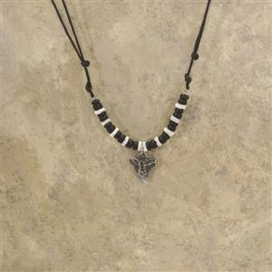 Replica Bull Shark Tooth Black Bead Necklace