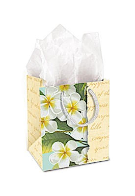 Gift Bag - Plumeria Notes - Small