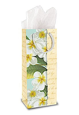 Gift Bag - Plumeria Notes - Wine bag