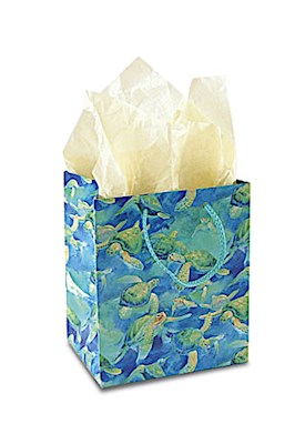 Small Gift Bag, Swimming Honu