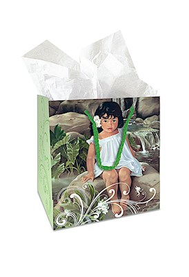 Small Gift Bag, White Ginger *