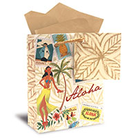 Gift Bag - Stamped with Aloha - Mini